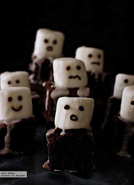 Brownies fantasmales, receta de Halloween