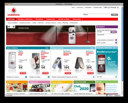 Imagen de la semana: Web de Vodafone