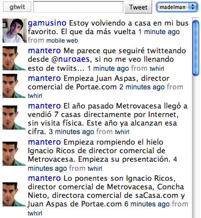 gtwit, interfaz web para twitter