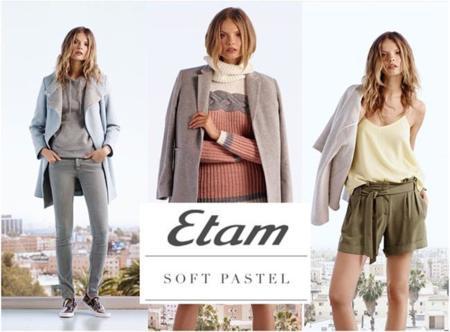 La colección soft de Etam viene en colores pastel