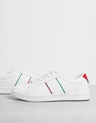 Estas Zapatillas Blancas Con Una Dosis Justa De Color De Rebajas En Asos Son Perfectas Para Realzar Tus Looks En Los Ultimos Dias De Verano