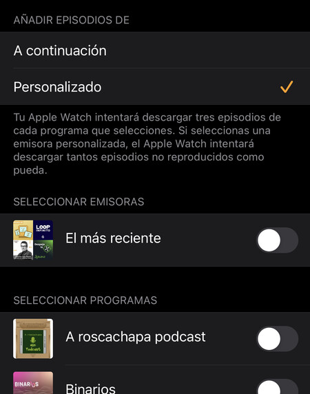 Apple Watch Podcasts