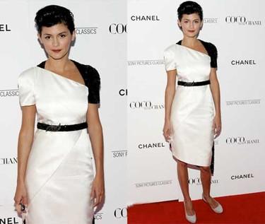 Audrey Tautou en la premiere de Coco Avant Chanel en Nueva York