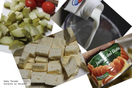 Platillo chayotes ingredientes