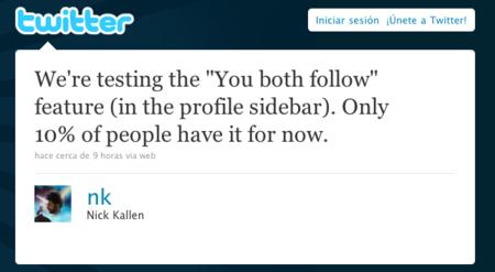 """Twitter lanza su propio """"Amigos en común"""""""