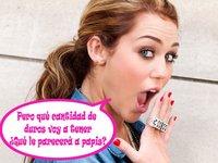 Miley Cyrus no tendrá más que pasta
