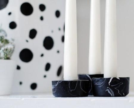 Black Marble Candle Holder Close Up 500x402 Copia