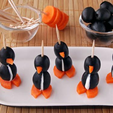 Simpáticos pingüinos rellenos de queso: receta ideal para hacer con niños
