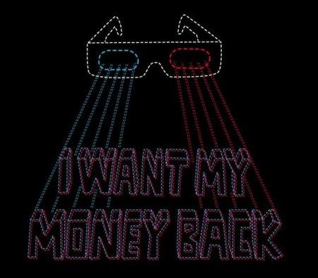 Camiseta para aquellos desilusionados con las películas en 3D