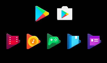 Los iconos de la Google Play cambian a un diseño plano con color caramelo