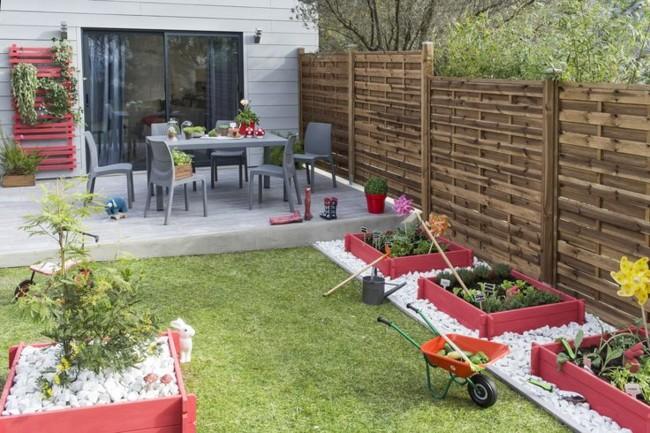 Las mejores alternativas para conseguir un jard n ntimo y - Paneles de madera para jardin ...