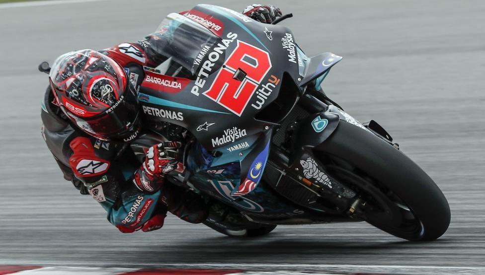 Fabio Quartararo domina el último viernes del año en Valencia y busca de estrenarse en MotoGP