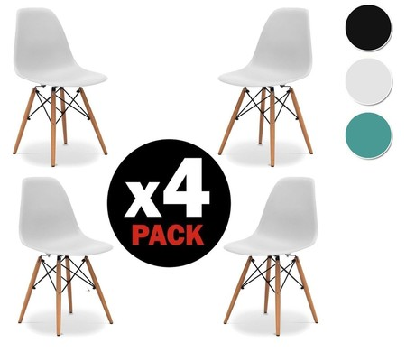 Podemos amueblar realmente barato gracias a Amazon: el pack 4 sillas tower de Due-home está por 70,89 euros