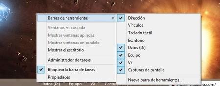 Crear accesos a cualquier directorio o carpeta mediante la barra de herramientas de Windows 8