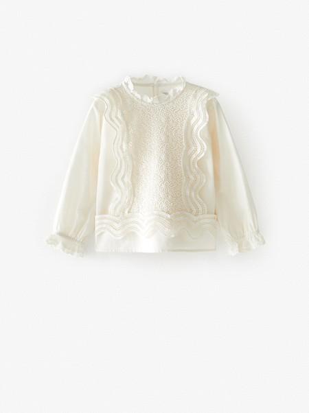 camisa blanca niño zara