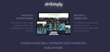 Strikingly, creando una Web personal en minutos