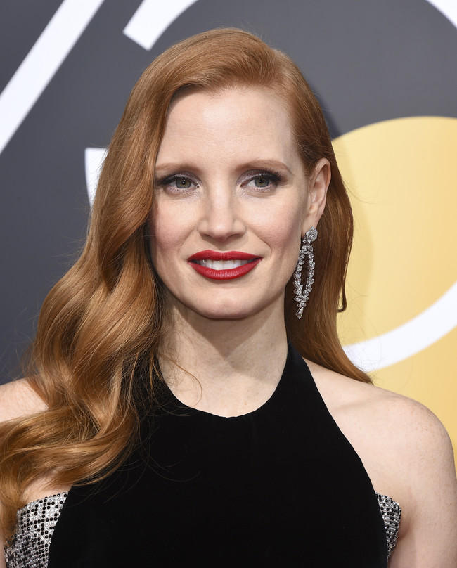 mejores looks beauty globos de oro 2018 Jessica Chastain
