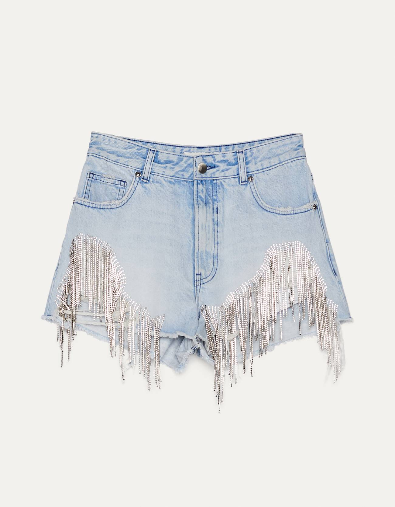 Short denim strass.