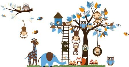 Vinilo infantil selva