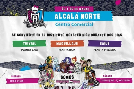 Monster High aterriza en el Centro Comercial Alcalá Norte de Madrid este fin de semana