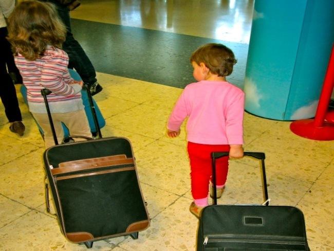 Niñas de viaje