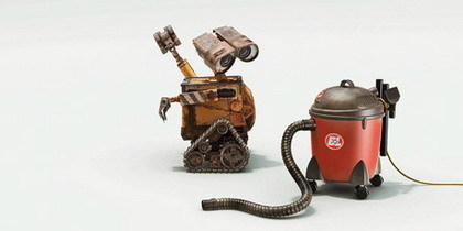 WALL-E y la aspiradora