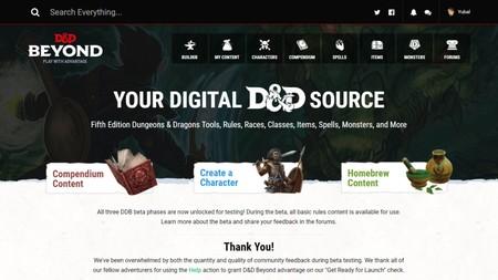 Así es como 'D&D: Beyond' digitalizará el rol para que te olvides de libros y te centres en jugar