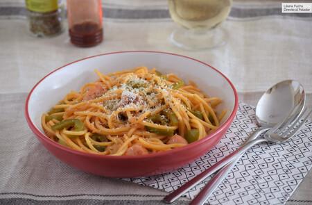 Espaguetis Napolitana Con Ketchup