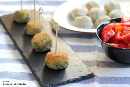 croquetas de espinacas y queso azul