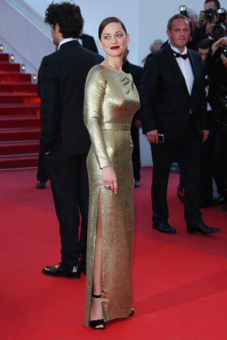 Marion Cotillard, muy dorada