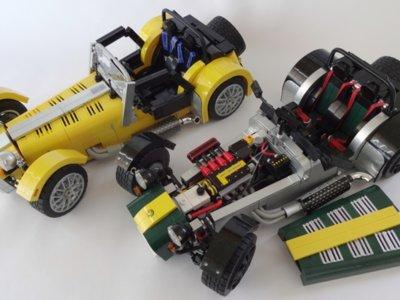 Ahora tú también podrás montar un Caterham Seven en tu salón, pero en Lego