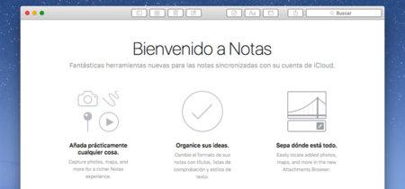 Toma de contacto con la app Nota de OS X El Capitan