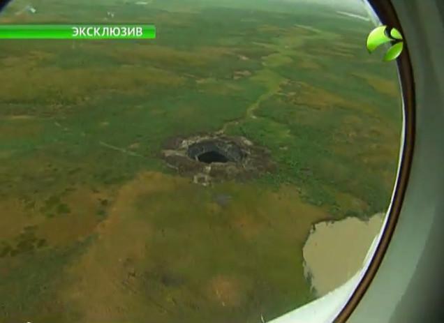 Así es el misterioso cráter de Siberia