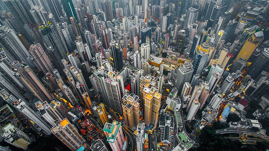 Andy Yeung fotografía Hong Kong a vista de pájaro con su drone