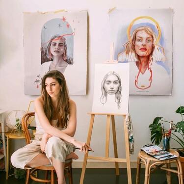 """Nos sumergimos en el mundo de la ilustradora Beatriz Ramo (@naranjalidad): """"Me encanta inspirarme en las frases lapidarias de Twitter"""""""