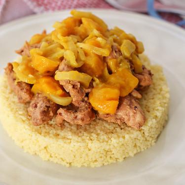 Cuscús con pollo y chutney de mango. Receta