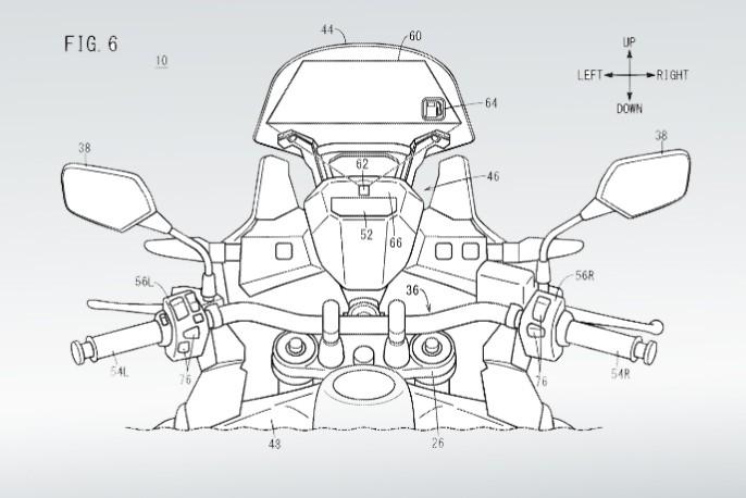 Honda patenta un Head-Up Display táctil en el parabrisas de sus motos que mejoraría la seguridad del piloto