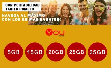 You Mobile estrena nuevas tarifas de contrato: las más baratas del mercado y con hasta 35 GB