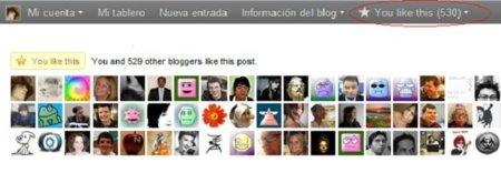 """Wordpress.com también añade el botón """"Me gusta"""" en sus blogs"""