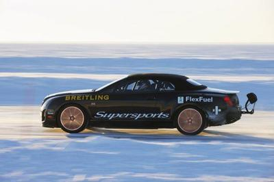 Bentley Continental Supersports + Kankkunen + hielo = record
