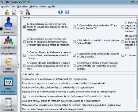Disponible módulo de cálculo de retenciones 2010