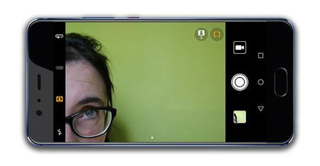 Huawei P10 Plus, interfaz de cámara frontal
