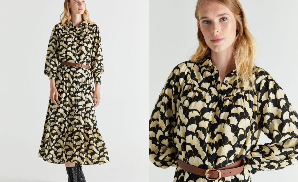 Vestido camisero tejido sostenible