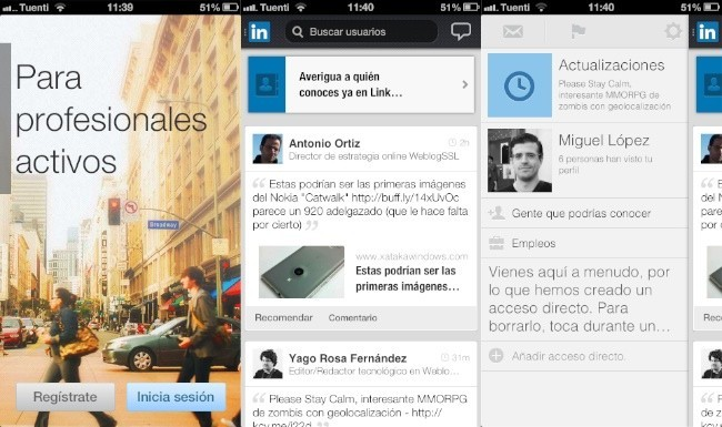 linkedin iphone