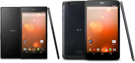 Google anuncia los Sony Xperia Z Ultra y LG G Pad 8.3 Google Play Edition para Estados Unidos