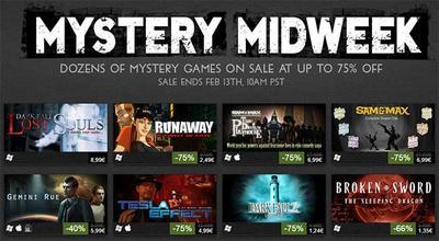 Steam celebra la semana del misterio con 42 juegos con hasta el 75% de descuento