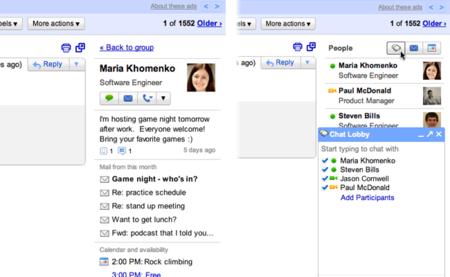Gmail People Widget muestra la información de las personas con las que hablamos