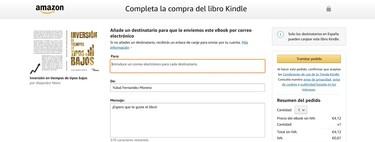 Cómo regalar libros de Kindle a otras personas en Amazon