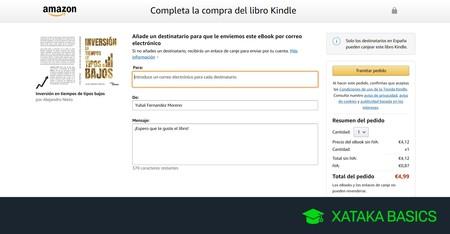 Cómo regalar libros de Kindle o eBooks a otras personas en Amazon