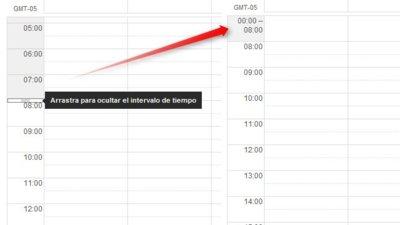 Oculta en Google Calendar las horas en las que no programarás ninguna actividad